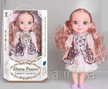 Кукла со звуком и светом с большими глазами, длинными волосами, в комплекте расческа YL 005 A-1