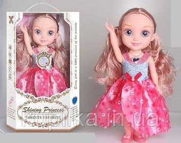 Музыкальная кукла с аксессуарами в нарядном розовом платье с длинными волосами YL 005 A-2