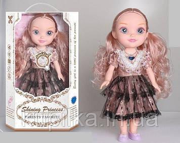 Игровой набор для девочки, музыкальная кукла с аксессуарами в нарядном платье YL 005 A-3