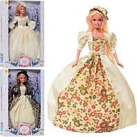 Кукла Defa 8402-BF Принцесса в бальном платье, блондинка с длинными волосами (высота 29 см)