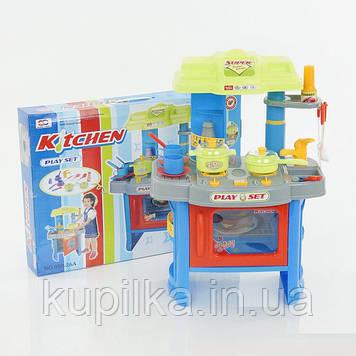 Игровой набор Bambi детская игрушечная Кухня 008-26 А с подсветкой и световыми эффектами горящего газа