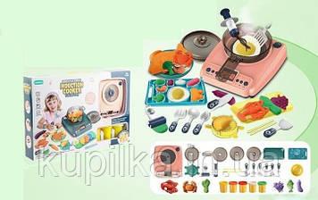 Детская игровая кухонная плита с холодным паром, звуковыми и световыми эффектами и аксессуарами 199-1 B