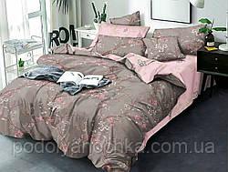 Двоспальний комплект з бязі голд люкс  Пудрова сакура