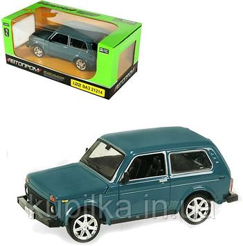 Детская игрушка коллекционная машина Автопром 21214 с открывающимися дверями 1:24 (3 цвета)