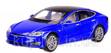 Металлическая моделька машинки Tesla Model S 6614 Автопром, со звуковыми и световыми эффектами (4 цвета)