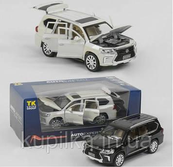 Машинка металлическая с открывающимися дверками и капотом - джип Lexus (2 цвета и вида коробки), EL 9218(7691)