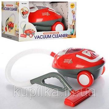 Детский пылесос для уборки 3200, со световыми, звуковыми эффектами и пенопластовыми шариками, красный
