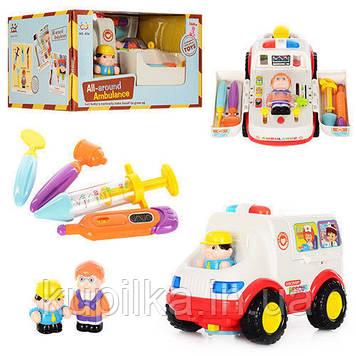"""Детский игровой набор """"Доктор"""" с машиной скорой помощи со звуковыми и световыми эффектами KI-7046 (836)"""