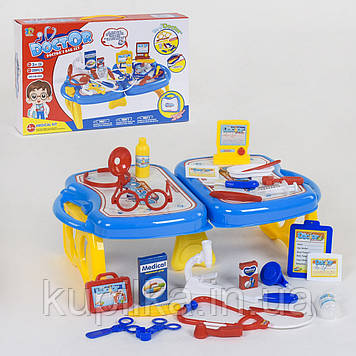 Игровой набор доктора для детей в чемодане, который раскладывается в столик с инструментами 118-53 А