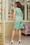Літній костюм жіночий Шорти і футболка Стрейч льон Розмір 50 52 54 56 58 60 62 64 В наявності 4 кольори, фото 5