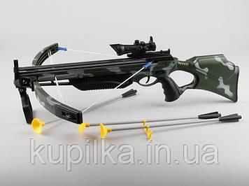 Игрушечный Арбалет со стрелами присосками и лазерным прицелом для более меткой стрельбы 35881H