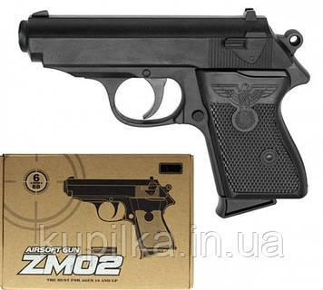 Игрушечный металлический пистолет CYMA ZM02 (ТТ) L 00018 с пластиковыми пулями
