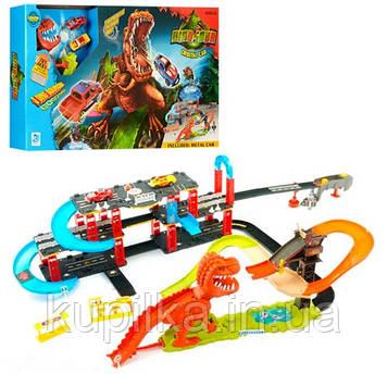 """Детский игровой трек для машинок """"Динозавр Рекс"""" 8899-93 с двумя машинками (длина трека 120 см)"""
