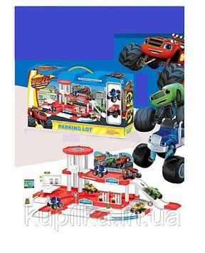Детский игровой набор паркинг-гараж для мальчика 553-394 A на два этажа, с двумя машинками в комплекте