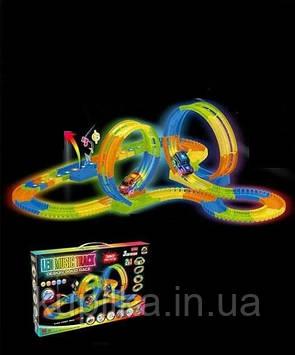 Детский музыкальный автотрек со светящейся машинкой на батарейках GD 156 A (длина трассы 480 см)