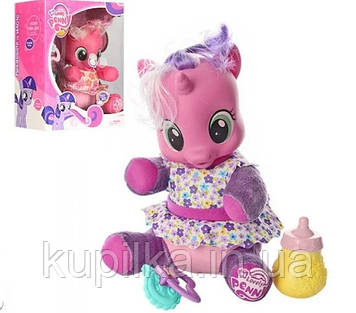 Детская интерактивная лошадка-пони My Little Pony 66241 с аксессуарами (2 цвета)