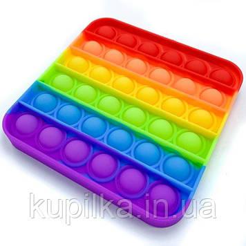 """Сенсорная игрушка Pop It, """"Нажми пузырь"""", пупырышки антистресс, квадрат разноцветный поп ит"""