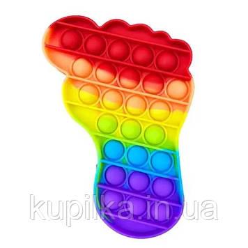 """Поп ит силиконовый антистресс, разноцветный """"Радужная ступня"""" Pop It (размер 15*11 см)"""