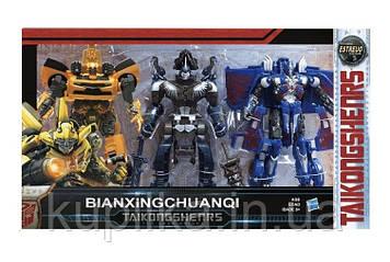 Набор игровых роботов-трансформеров для мальчика, легко превращаются в машинки и наоборот, 8603