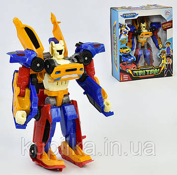 Робот-Трансформер для мальчика разбирается на 3 отдельных машинки 515, высота трансформера 28 см