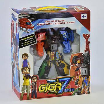 """Детский робот машинка Трансформер для мальчика разбирается на 7 отдельных машинок 528 """"Гига 7"""""""