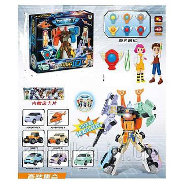 """Робот-трансформер 7 в 1 """"GIGA10"""" Q1905 из 6 разных машинок со световыми и звуковыми эффектами"""