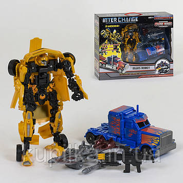 Игровой набор роботов трансформеров Бамблби и Оптимус прайм 4096 с аксессуарами (2 робота в наборе)