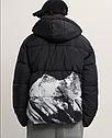 Тепла зимова чоловіча куртка з принтом ZARA Зара (Розмір XL) Оригінал, фото 5