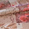 Обои на стену бумажные влагостойкие розы 0,53*10м