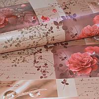 Обои на стену бумажные влагостойкие розы 0,53*10м, фото 1