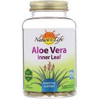 Natures Herbs, Алоэ вера, мякоть листьев, 100 вегетарианских капсул
