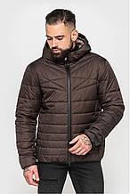 Стильная мужская демисезонная куртка с капюшоном, коричневый