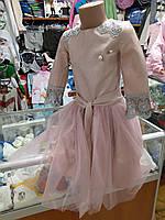 Нарядное платье для девочки с юбкой р.128 - 152