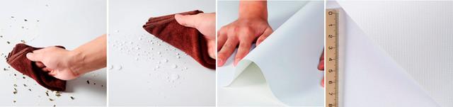Свойства винилового фона и структура ткани