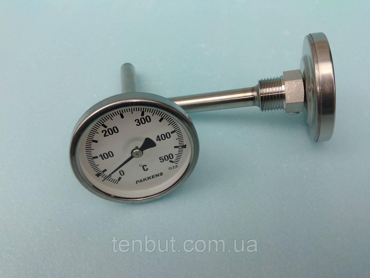Термометр трубчастий PAKKENS 0-500℃ / діаметр Ф-65 мм./ довжина гільзи - 100 мм. виробництво Туреччина