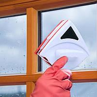 Магнитная щетка для мытья окон с двух сторон Winclean