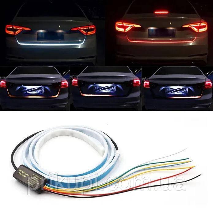Динамическая LED подсветка багажника, гибкая светодиодная лента на багажник с бегущим поворотом -