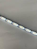 Гибкие дневные ходовые огни с бегущим поворотом и влагозащитой ДХО LED DRL 2шт по 50см белый/желтый (в кожухе), фото 3