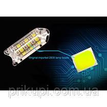 Гибкие дневные ходовые огни Crystal LED с бегущим поворотом 2шт по 50см белый/желтый, фото 2