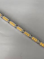 Гибкие дневные ходовые огни Crystal LED с бегущим поворотом 2шт по 50см белый/желтый, фото 3