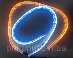Гибкие дневные ходовые огни с бегущим поворотом ДХО LED DRL 2шт по 60см (скрытый контроллер)