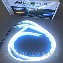 Гибкие дневные ходовые огни с бегущим поворотом ДХО LED DRL 2шт по 60см (скрытый контроллер), фото 2