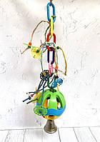 Іграшка для папуги з м'ячем 48см., фото 1