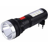Многофункциональный фонарик светодиодный YAJIA 227: питание автономное, зарядка 220В, сетевая вилка