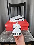 Женские кроссовки Puma Cali Bold White Black белые с черным Кроссы Пума Кали в белом цвете повседневные, фото 5