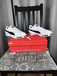 Женские кроссовки Puma Cali Bold White Black белые с черным Кроссы Пума Кали в белом цвете повседневные, фото 7