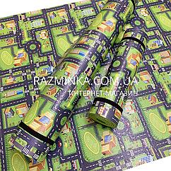 Игровой коврик для машинок 2000*1140*8мм (зеленый)