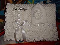 Комплект вязанный для новорожденных., фото 1
