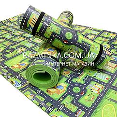 Детский коврик дорога 1800*550*8мм (зеленый)