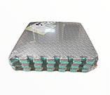 Коврик-пазл,  ласточкин хвост, 50х50 см, шахматы т. 8-10 мм, EVA, плотность 100 кг/м3, набор 12 шт. TERMOIZOL®, фото 3